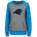 Carolina Panthers Majestic Women's Overtime Queen Crew Neck Sweatshirt - Gray/Blue