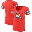 Miami Marlins '47 Women's Off Campus Vintage Logo T-Shirt - Orange