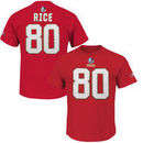 Jerry Rice San Francisco 49ers Majestic Hall of Fame Eligible Receiver II Big & Tall Name & Number T-Shirt - Scarlet