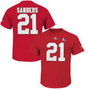 Deion Sanders San Francisco 49ers Majestic Hall of Fame Eligible Receiver II Big & Tall Name & Number T-Shirt - Scarlet