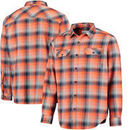 Illinois Fighting Illini Columbia Collegiate Flare Gun Flannel Long Sleeve Button-Up Shirt - Navy