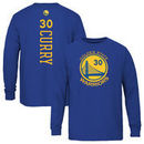Stephen Curry Golden State Warriors Youth Backer Long Sleeve T-Shirt - Royal