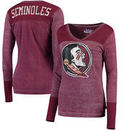 Florida State Seminoles Touch by Alyssa Milano Women's Goal Line V-Neck Thermal Long Sleeve T-Shirt - Garnet