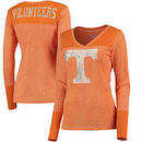 Tennessee Volunteers Touch by Alyssa Milano Women's Goal Line V-Neck Thermal Long Sleeve T-Shirt - Tennessee Orange