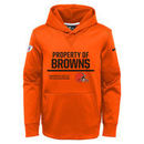 Cleveland Browns Nike Youth Property Of Circuit Performance Hoodie - Orange