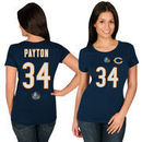 Walter Payton Chicago Bears Majestic Women's Hall of Fame Fair Catch Name & Number T-Shirt - Navy
