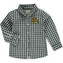 Baylor Bears Infant Logan Gingham Button-Down Long Sleeve Shirt - Green