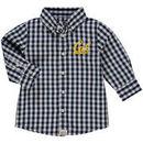 Cal Bears Infant Logan Gingham Button-Down Long Sleeve Shirt - Navy