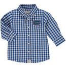 Florida Gators Infant Logan Gingham Button-Down Long Sleeve Shirt - Royal