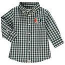Miami Hurricanes Infant Logan Gingham Button-Down Long Sleeve Shirt - Green