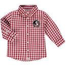 Florida State Seminoles Infant Logan Gingham Button-Down Long Sleeve Shirt - Garnet