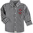 Ohio State Buckeyes Infant Logan Gingham Button-Down Long Sleeve Shirt - Black