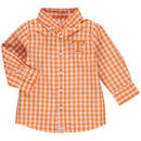 Tennessee Volunteers Infant Logan Gingham Button-Down Long Sleeve Shirt - Tennessee Orange