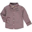 Texas A&M Aggies Infant Logan Gingham Button-Down Long Sleeve Shirt - Maroon