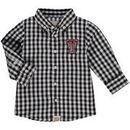 Texas Tech Red Raiders Infant Logan Gingham Button-Down Long Sleeve Shirt - Black