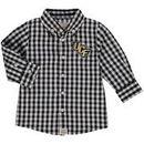 UCF Knights Infant Logan Gingham Button-Down Long Sleeve Shirt - Black