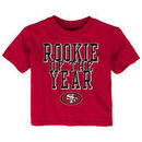 San Francisco 49ers Toddler Rookie Of The Year T-Shirt - Scarlet