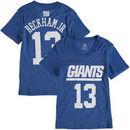 Odell Beckham Jr New York Giants Girl's Youth Tri-Blend Mainliner V-Neck Name & Number T-Shirt - Royal