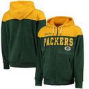 Green Bay Packers G-III Sports by Carl Banks First Down Polar Fleece Full-Zip Hoodie - Green