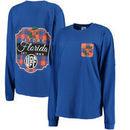 Florida Gators Pressbox Women's Buffalo Plaid Printed Pocket Long Sleeve T-Shirt - Royal