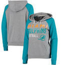 Miami Dolphins G-III 4Her by Carl Banks Women's West Coast Pullover Hoodie - Heathered Gray