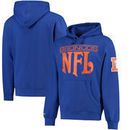 Denver Broncos Mitchell & Ness Passing Yards Pullover Hoodie - Navy