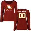 Winthrop Eagles Women's Personalized Basketball Long Sleeve T-Shirt - Cardinal
