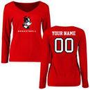 Boston University Women's Personalized Basketball Long Sleeve T-Shirt - Red