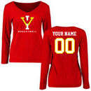 Virginia Military Institute Keydets Women's Personalized Basketball Long Sleeve T-Shirt - Red