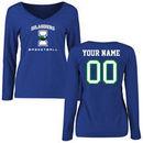 Texas A&M Corpus Christi Islanders Women's Personalized Basketball Long Sleeve T-Shirt - Royal