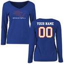 Savannah State Tigers Women's Personalized Basketball Long Sleeve T-Shirt - Royal