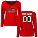 S.E. Missouri State Redhawks Women's Personalized Basketball Long Sleeve T-Shirt - Red