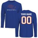 Savannah State Tigers Personalized Basketball Long Sleeve T-Shirt - Royal