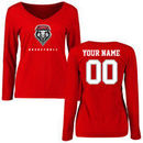 New Mexico Lobos Women's Personalized Basketball Long Sleeve T-Shirt - Red