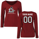 New Mexico State Aggies Women's Personalized Basketball Long Sleeve T-Shirt - Maroon