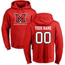 Miami University RedHawks Personalized Basketball Pullover Hoodie - Red
