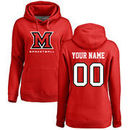 Miami University RedHawks Women's Personalized Basketball Pullover Hoodie - Red