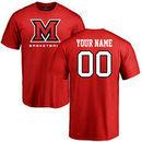 Miami University RedHawks Personalized Basketball T-Shirt - Red