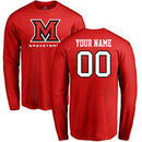 Miami University RedHawks Personalized Basketball Long Sleeve T-Shirt - Red