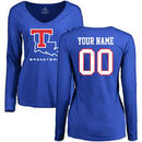 Louisiana Tech Bulldogs Women's Personalized Basketball Long Sleeve T-Shirt - Royal