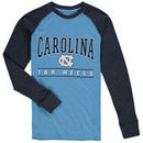 North Carolina Tar Heels Colosseum Youth Kryton Long Sleeve Raglan T-Shirt - Carolina Blue/Navy