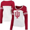 Indiana Hoosiers Colosseum Women's Hornet Football Long Sleeve T-Shirt - White
