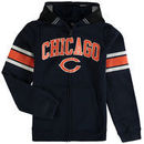 Chicago Bears Youth Fan Gear Helmet Full-Zip Hoodie - Navy
