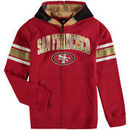 San Francisco 49ers Youth Fan Gear Helmet Full-Zip Hoodie - Scarlet