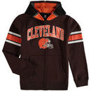 Cleveland Browns Youth Fan Gear Helmet Full-Zip Hoodie - Brown