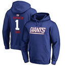 New York Giants NFL Pro Line Number 1 Dad Pullover Hoodie - Royal