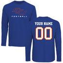 Savannah State Tigers Personalized Football Long Sleeve T-Shirt - Royal