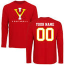Virginia Military Institute Keydets Personalized Football Long Sleeve T-Shirt - Red