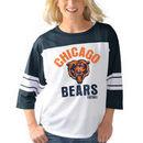 Chicago Bears G-III 4Her by Carl Banks Women's First Team Three-Quarter Sleeve Mesh T-Shirt - White/Navy