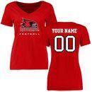 S.E. Missouri State Redhawks Women's Personalized Football T-Shirt - Red